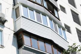 Turnkey plastic balconies and loggias Rehau